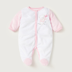 Juniors Bear Embroidered Closed Feet Sleepsuit