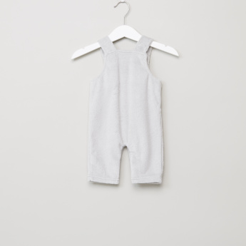 Juniors Long Sleeves T-Shirt and Embroidered Dungarees