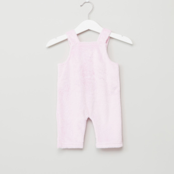Juniors Plush Dungarees with Long Sleeves T-Shirt