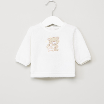 Juniors Plush T-Shirt and Closed Feet Pyjama Set