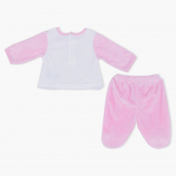 Juniors Embroidered T-Shirt and Pyjama Set