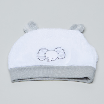 Juniors Beanie Cap with Plush Texture and Embroidered Applique