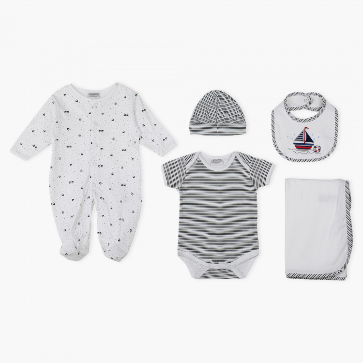 Juniors Printed and Embroidered 5-Piece Gift Set