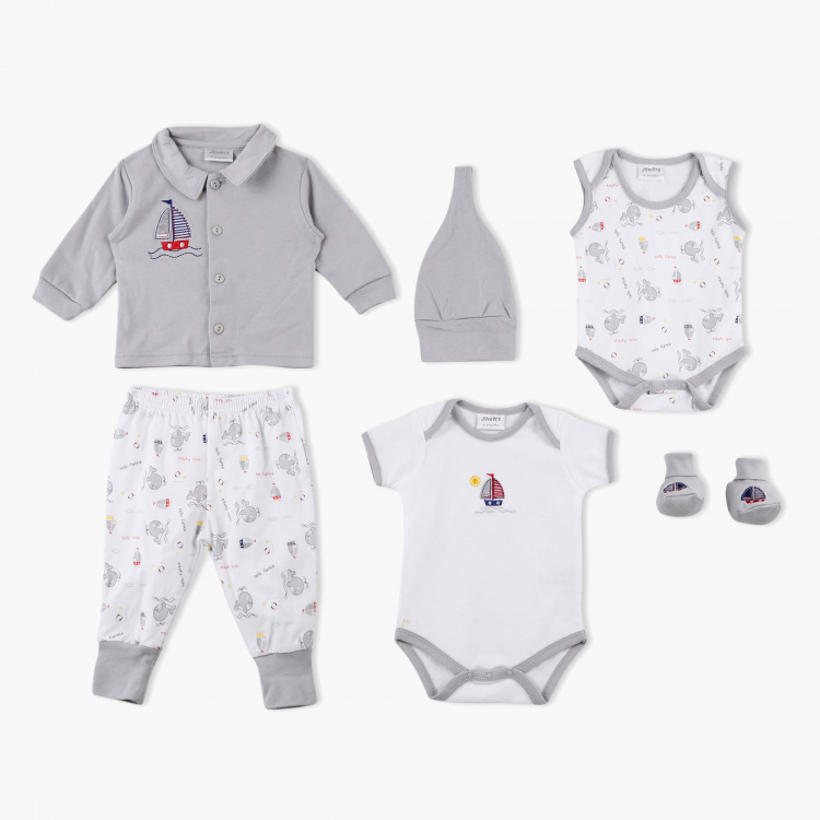 Juniors Printed and Embroidered 6-Piece Gift Set