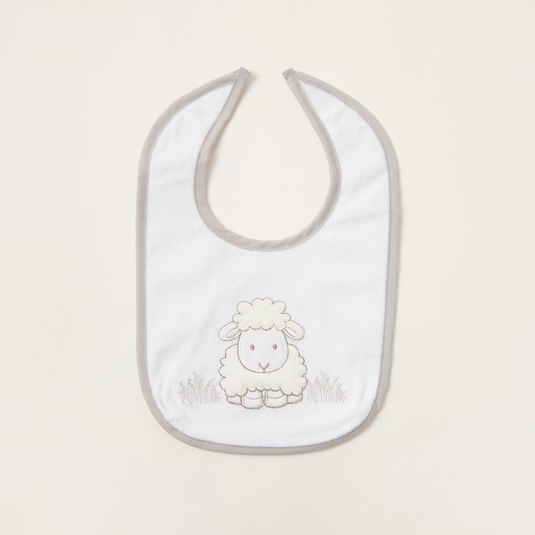 Juniors Sheep Embroidered Bibs - Set of 3