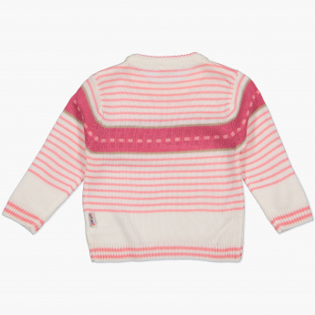 Juniors Striped Sweater with Long Sleeves