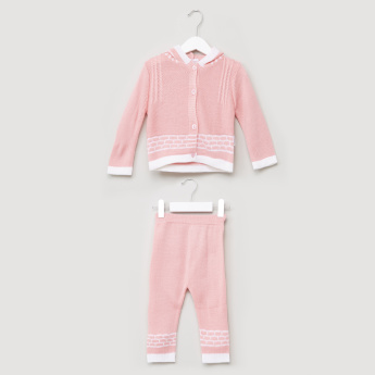 Juniors Hooded Cardigan and Pyjama Set