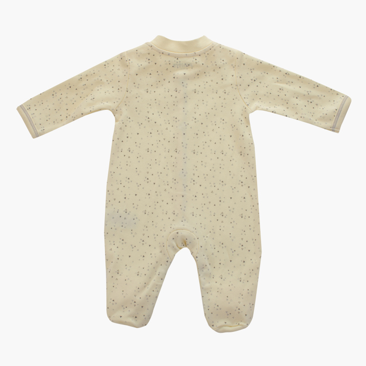 Juniors Printed Closed Feet Sleepsuit with Snap Button Closure