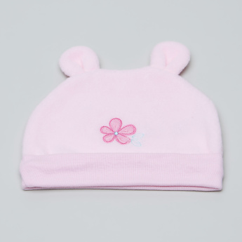 Juniors Embroidered Cap with Ear Applique