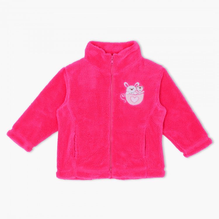 Juniors Embroidered Long Sleeves Jacket