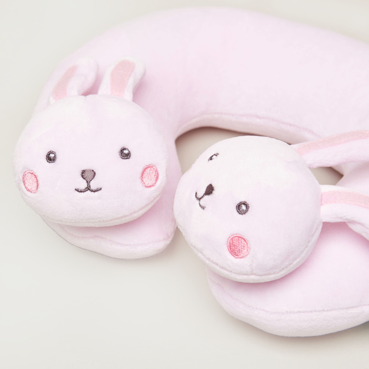 Juniors Neck Pillow with Bunny Accents