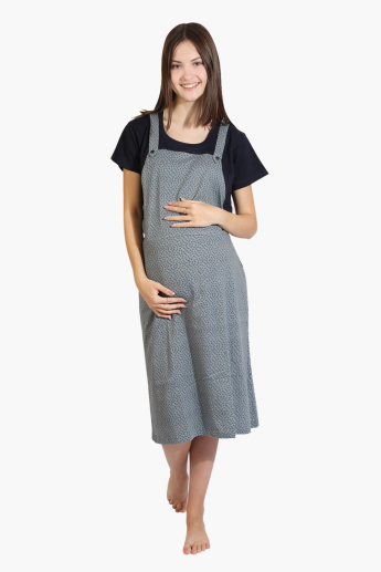 House of Napius Maternity Printed Sleep Dress