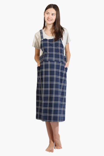 House of Napius Maternity Chequered Dress