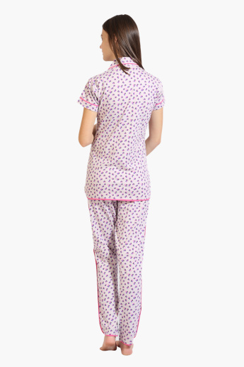 House of Napius Maternity Printed Shirt and Pyjama Set