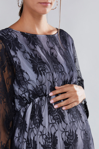 House of Napius Maternity Lace Dress with 3/4 Sleeves