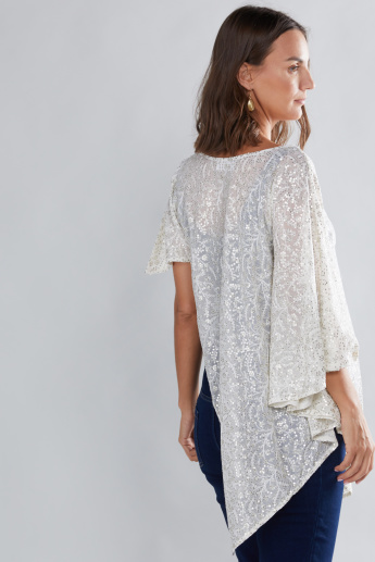 House of Napius Maternity Sequin Detail Poncho