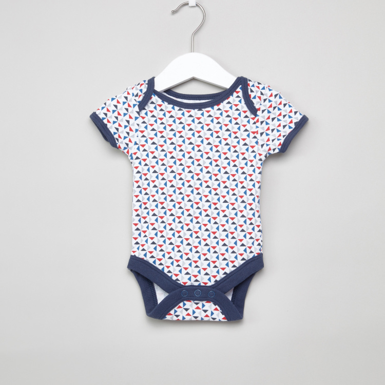 Juniors Printed Bodysuit with Short Sleeves - Set of 7