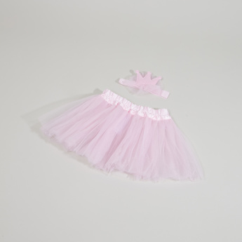 Juniors Mesh Tutu Skirt and Headband Set