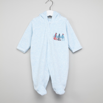 Juniors Embroidered Closed Feet Sleepsuit