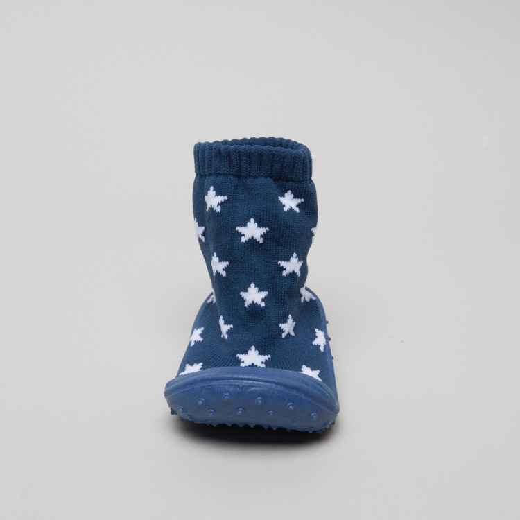 Juniors Star Printed Baby Shoes