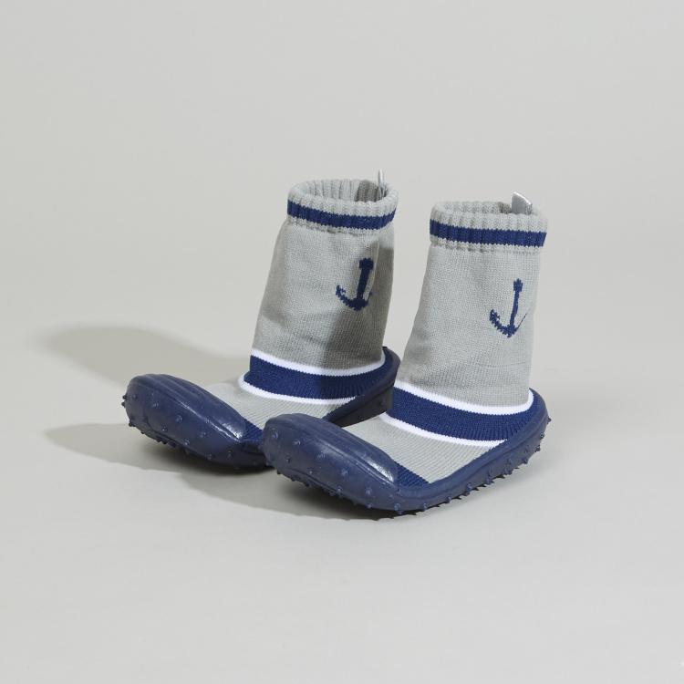 Juniors Printed Booties with Elasticised Cuffs