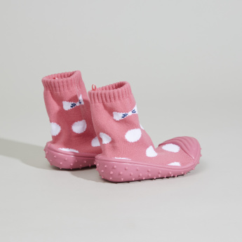 Juniors Polka Dot Printed Booties