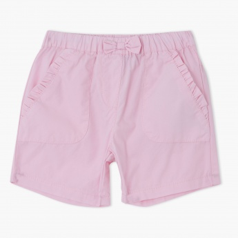 Elasticised Shorts with Bow Applique