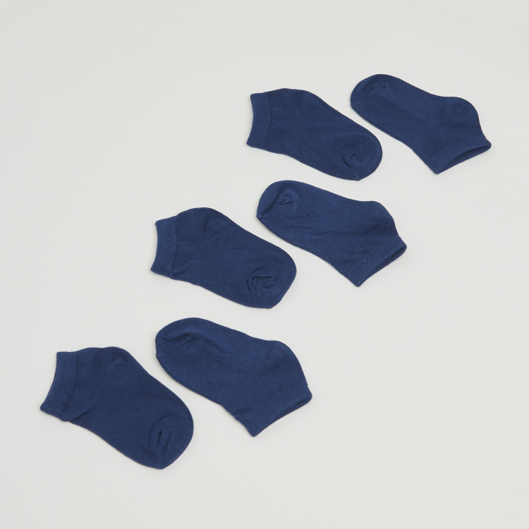 Juniors Solid Ankle Length Socks - Pair of 3
