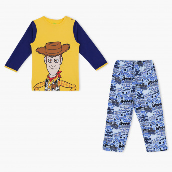 Toy Story Printed T-Shirt and Pyjama Set