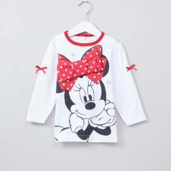 Minnie Mouse Printed T-Shirt and Pyjama Set