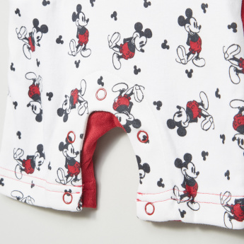 Mickey Mouse Printed Short Sleeves Romper