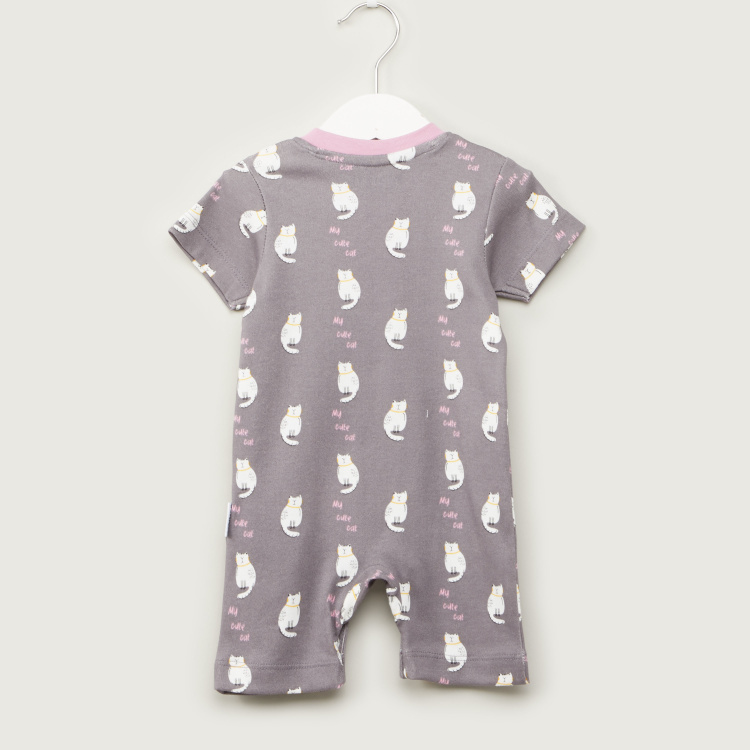 Juniors Round Neck Romper with Short Sleeves - Set of 3