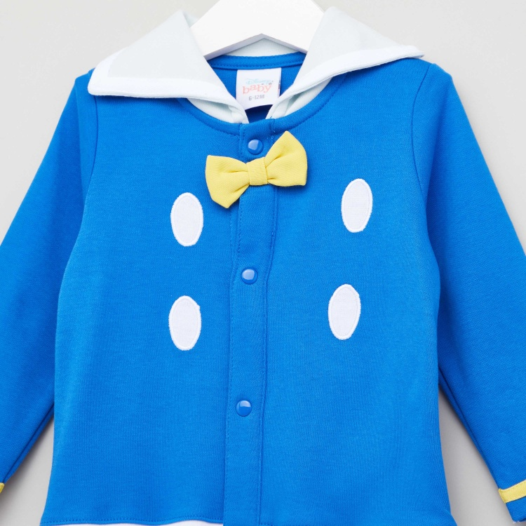 Disney Donald Duck Print Sleepsuit with Long Sleeves