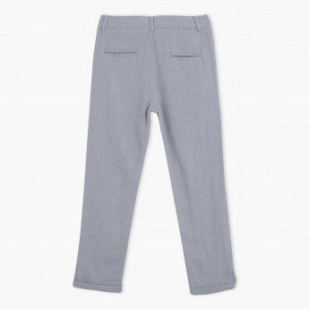 Eligo Full Length Pants with Button Closure