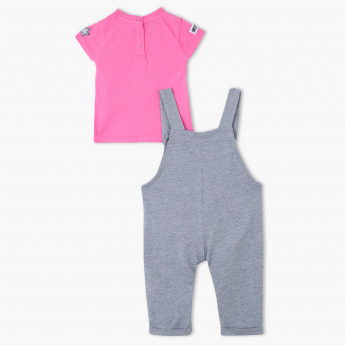 Juniors T-Shirt and Dungaree Set