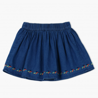 Juniors embroidered Skirt with Elasticised Waistband