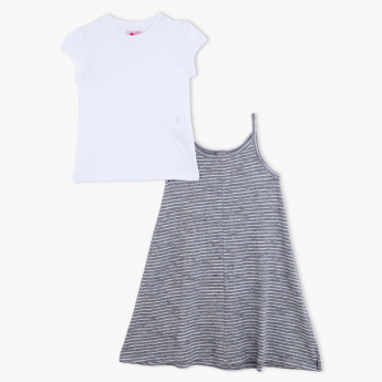 Juniors T-Shirt and Midi Dress Set