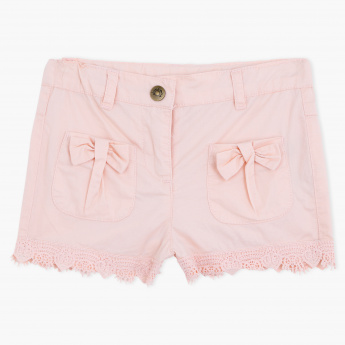Juniors Shorts with Button Closure