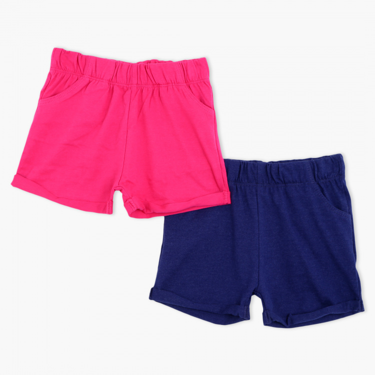 Juniors Elasticised Waistband Shorts – Set of 2