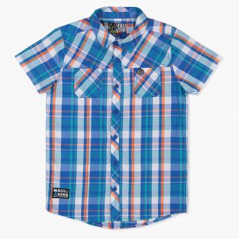 MAUI and Sons Chequered Short Sleeves Shirt