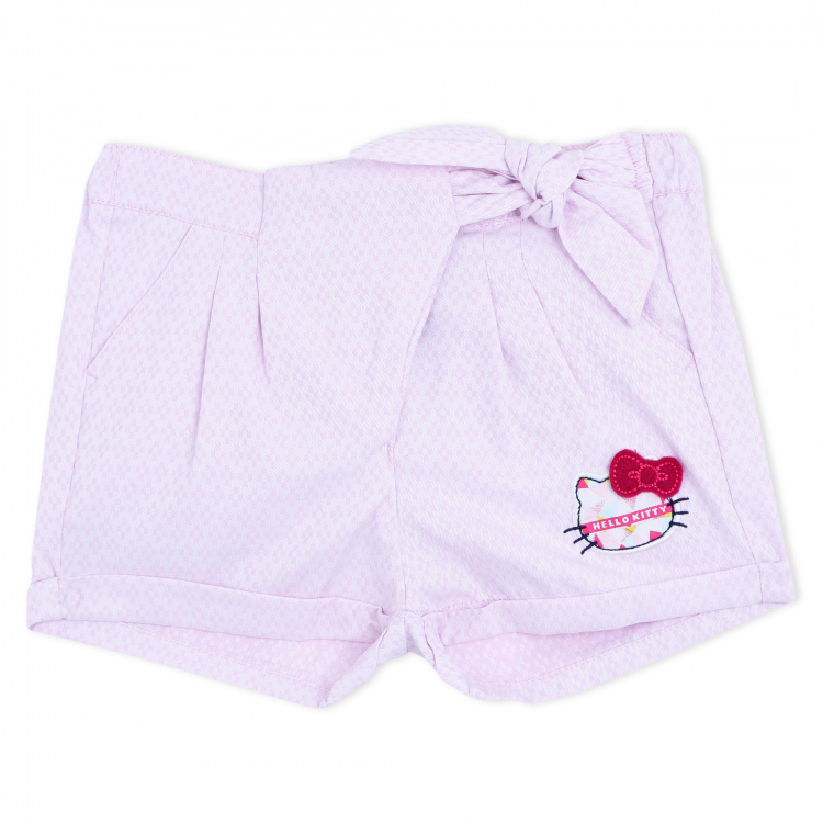 Hello Kitty Woven Shorts with Knot Detail