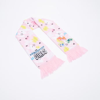 The Powerpuff Girls Printed Scarf with Cap