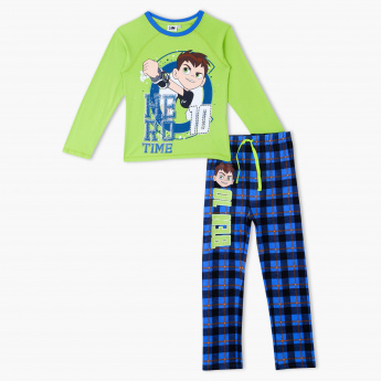 Ben 10 Printed T-Shirt and Pyjama Set