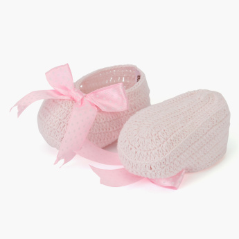 Giggles Textured Booties and Headband