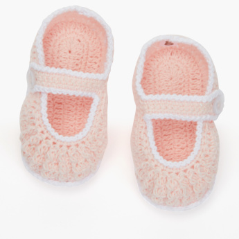 Crochet Booties with Button  Closure