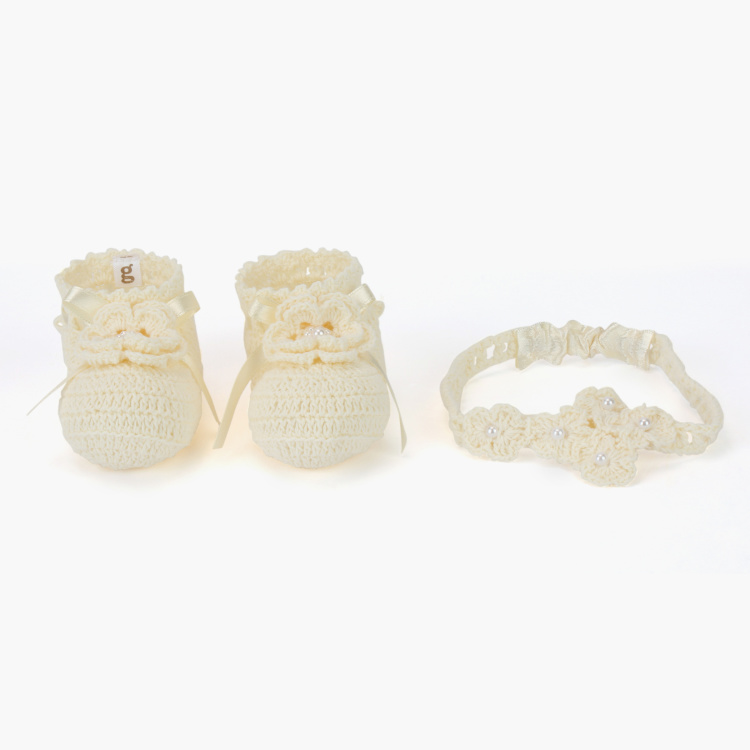 Giggles Pearl Detail 3-Piece Accessory Set