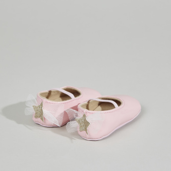 Giggles Mary Jane Shoes with Lace Detail