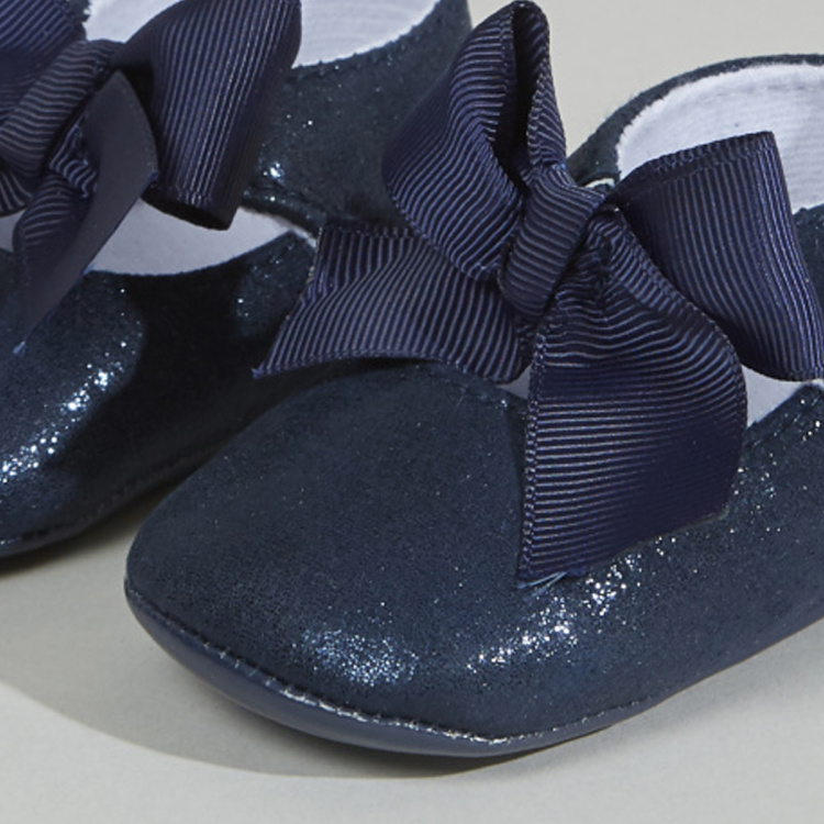 Giggles Glitter Shoes with Bow Detail