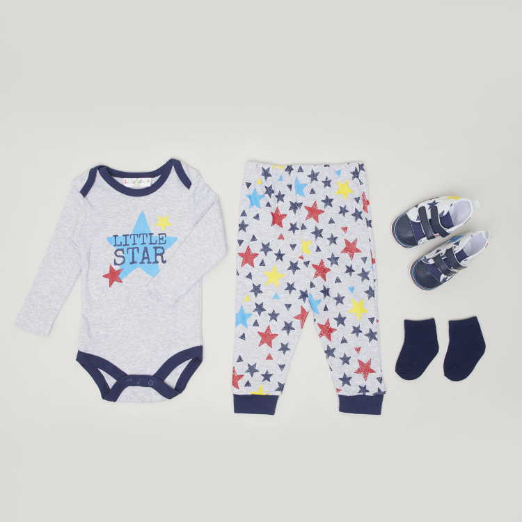 Lily & Jack 4-Piece Printed Clothing Gift Set