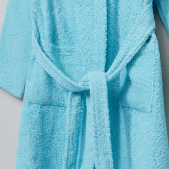 Juniors Pocket Detail Long Sleeves Bathrobe
